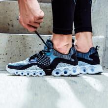 跑步鞋缓震轻便能量环跑鞋革面