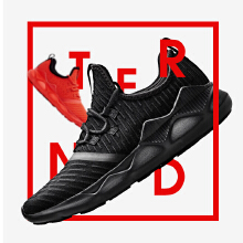网面休闲鞋黑色运动鞋潮流时尚潮鞋椰子鞋跑步
