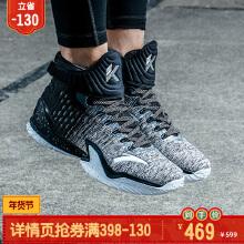 安踏篮球鞋男运动鞋汤普森老兵节战靴KT3中国年高帮球鞋