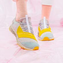 运动鞋缓震织带撞色潮流跑步鞋女