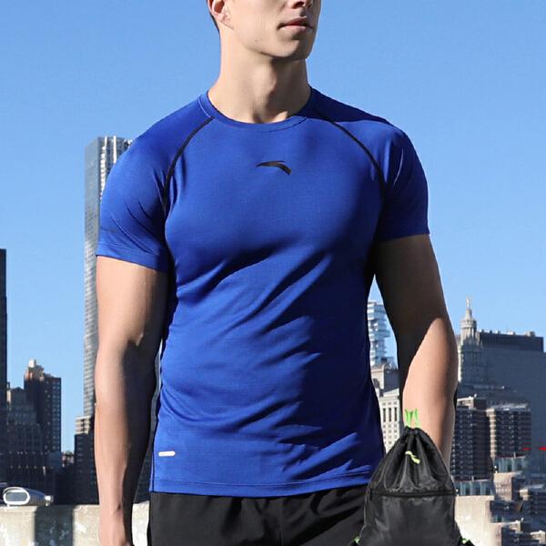 安踏 综训系列 男子能量盾短袖针织衫-15727186