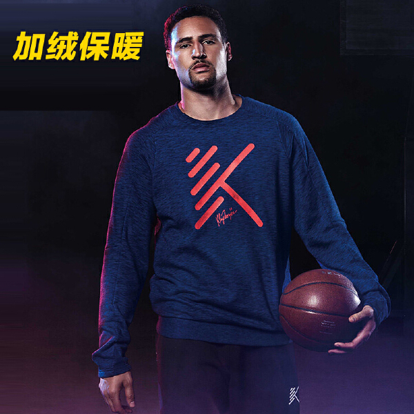 安踏 篮球系列 男子抓绒套头卫衣-15741706