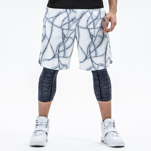 安踏 篮球系列 男子吸湿速干比赛短裤-15821205