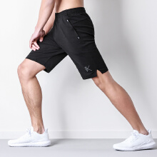 透气吸湿篮球跑步训练针织五分裤男