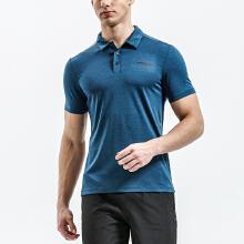 男子银能科技简约设计短袖POLO衫 T恤