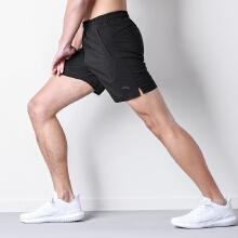 安踏运动短裤男2019春夏季新款休闲裤舒适透气学生黑色跑步五分裤