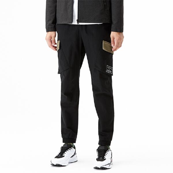 安踏篮球系列冬季男子梭织休闲长裤15841532