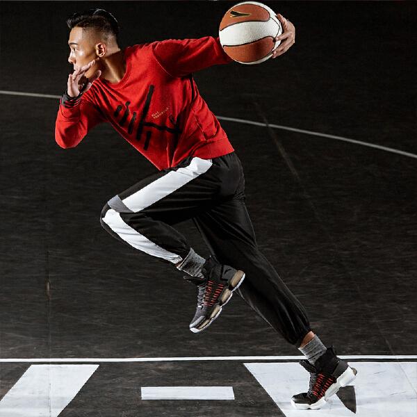 安踏篮球系列冬季男子套头卫衣15841703