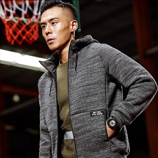 安踏篮球系列冬季男子连帽加厚针织上衣15841723