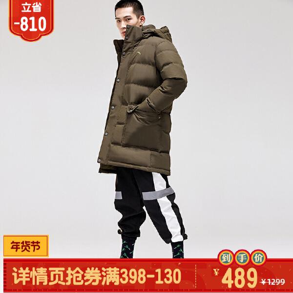 安踏综训系列冬季男子中长羽绒风衣15847978