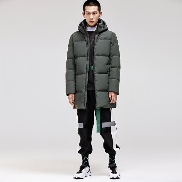 安踏搏击系列冬季男子中长羽绒风衣15849971