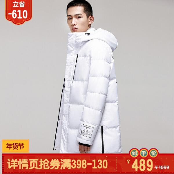 安踏搏击系列冬季男子中长羽绒风衣15849973