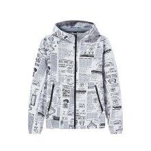 安踏外套男2019春季新款潮流满印梭织运动上衣男风衣短款15919611