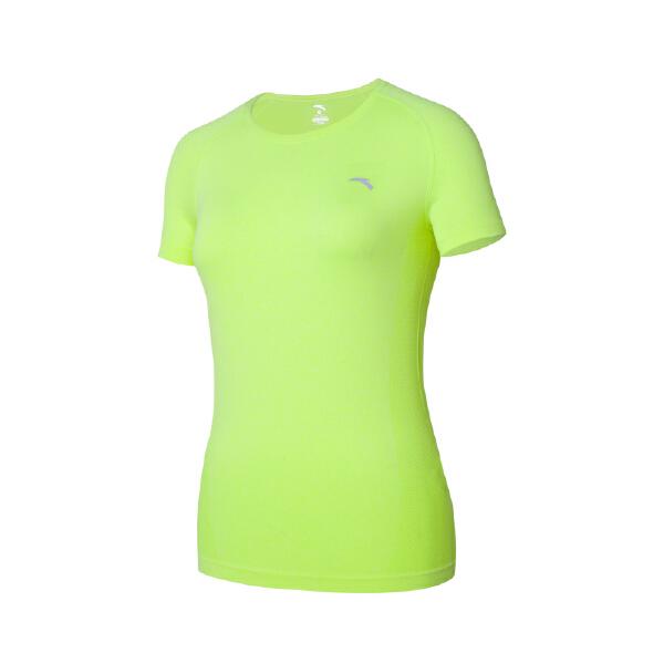 安踏 跑步系列 女子无缝一体织造跑步短T-16625140