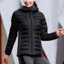 安踏羽绒服女冬季新品时尚休闲连帽轻薄保暖中长款运动羽绒外套女