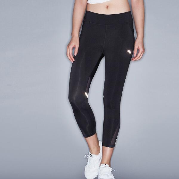 安踏 跑步系列 女子莱卡针织八分裤-16725742