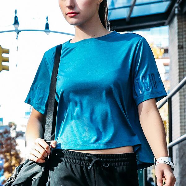 安踏 综训系列 女子吸湿速干短袖针织衫-16727154