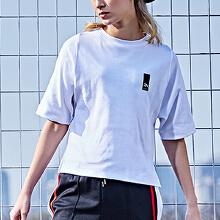 安踏T恤女 2019夏季新款也是味同嚼蜡女子半袖T恤学生舒适运动短袖�K潮16738155