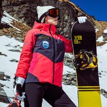 安踏女子户外滑雪服 2018冬季新款比赛系列保暖棉外套运动风衣女