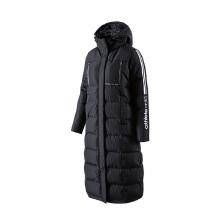 安踏羽绒外套女装 春冬新款女子长款休闲拼接保暖羽绒外套