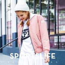 安踏运动外套女 2019春夏新款加厚保暖休闲立领开衫运动夹克上衣