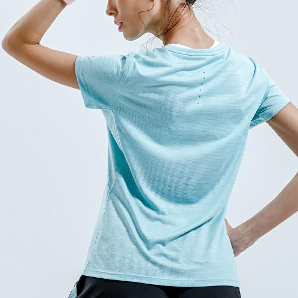 安踏 跑步系列 女子银能科技短袖针织衫-16825146