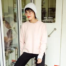 安踏女装 2019春季新款女子套头卫衣宽松休闲运动服针织【长袖T恤女