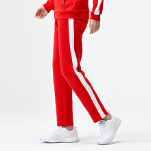[张俪同款]安踏运动裤女2018新款宽松针织条纹运动长裤官方旗舰店