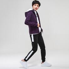 [关晓彤同款]安踏女针织外套 2019春季新款时尚连帽针织运动上衣