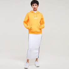 安踏套头卫衣女 2019春季新款时尚印花连帽套头卫衣女官方旗舰店