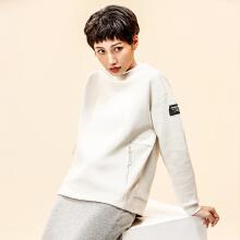 安踏女套头卫衣 2019春季新款纯色简约长袖潮运动卫衣旗舰店正品