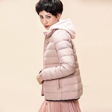 安踏棉服女 2019春季新款时尚粉色保暖运动羽绒外套官方16847845