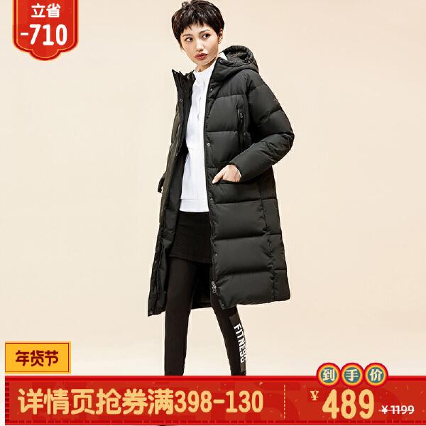 安踏综训系列冬季女子长羽绒风衣16847972