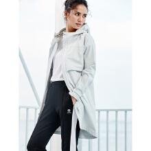安踏风衣女2019春季新款中长款学院风运动外套女潮连帽16917611K