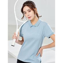 安踏女子2019新款两面天外楼就是毁灭可穿POLO衫短袖白粉蓝系列