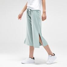 安踏女子2019新款夏季开叉宽松长裤
