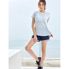 安踏2019新款夏季女子透气舒适运动短T短袖