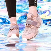 女鞋跑步鞋2019春季新款SEEED全掌气垫时光NASA休闲鞋跑鞋