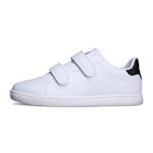 安踏童鞋男童 秋冬新款魔术贴白色运动休闲鞋小白鞋中大儿童板鞋