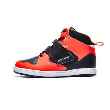 安踏童鞋运动鞋 新款男中大童时尚潮高帮魔术贴运动板鞋儿童鞋子