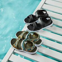 安踏儿童夏季舒适凉鞋中大儿童魔术贴沙滩凉鞋鞋