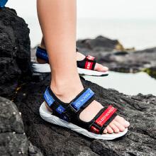 安踏童鞋女童凉鞋 中大童公主女童软底运动沙滩凉鞋