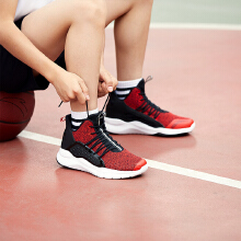 安踏儿童2019夏季新款透气飞织高帮篮球鞋