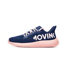 安踏童鞋女中大童跑鞋 夏季新款网面透气粉色可爱儿童运动鞋