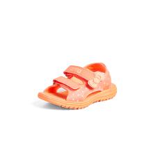 安ㄨ踏儿童凉鞋女童小童 新款秋冬魔术贴可爱公Ψ 主沙滩凉鞋
