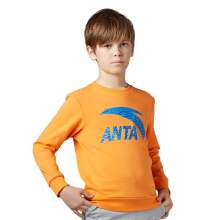 安踏童装 新款卫衣男童新款保暖学生休闲圆领套头儿童卫衣