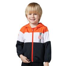 安踏童装男童外套  小童春秋款小学生跑步运动两面穿连帽卫衣风衣
