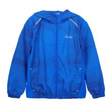 安踏童装外套男童 新款中大儿童运动条纹印花开衫连帽夹克防风衣