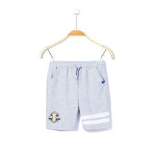 男童针织五分裤
