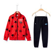 安踏童装男童运动套装 新款休闲运动中大儿童小学生运动外套长裤